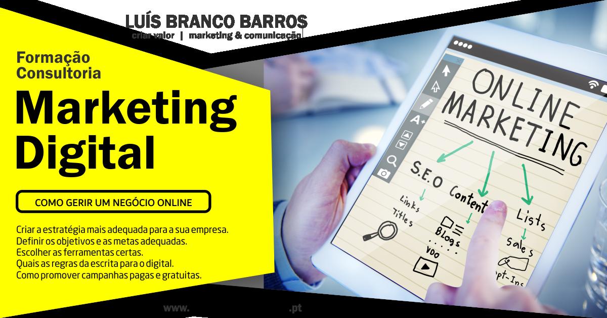 Formação e consultoria em Marketing Digital